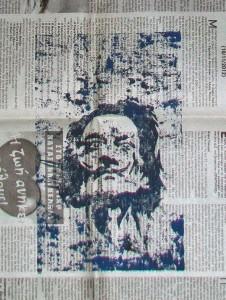 ΣΥΝΟΜΙΛΙΑ 27η ,Ρήμος Αργύριος «ΕΦΗΜΕΡΟΙ ΧΑΡΑΚΤΗΡΕΣ»  εικαστική έκθεσηστο καφέ της Λεωφόρου Ελευθερίας 122 του ποταμού Σακουλέβα  Φλώρινας